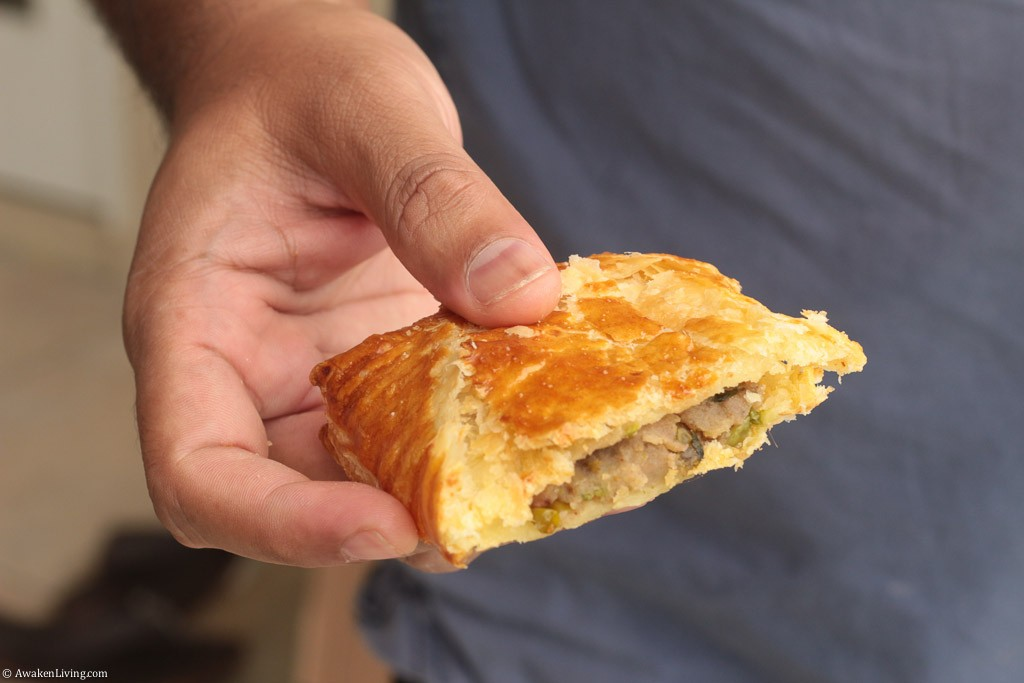 Potato curry puff pastries