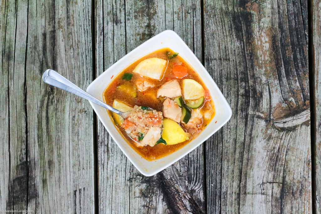 Lemony Chicken and Quinoa Stew