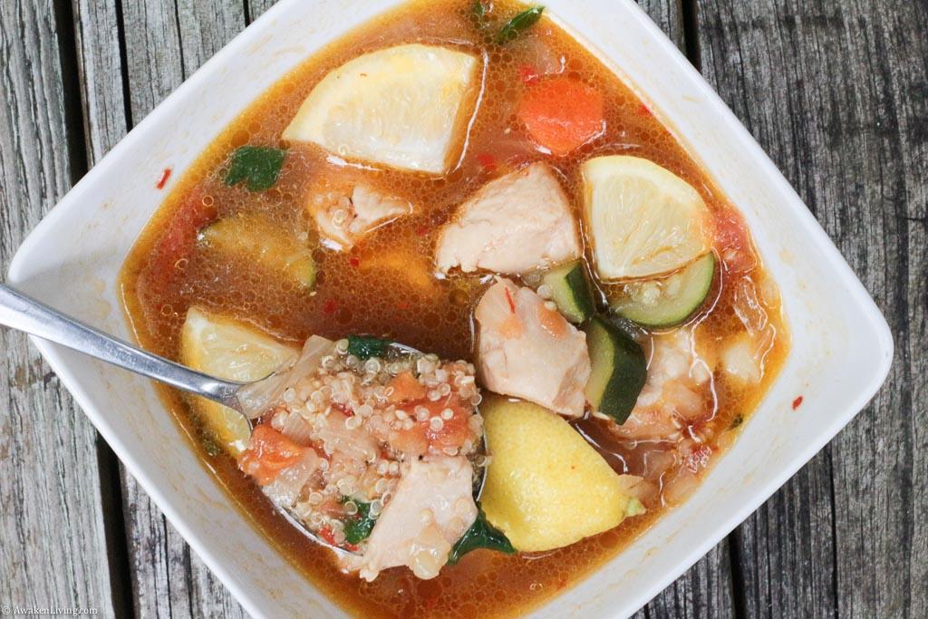 Lemony Chicken and Quinoa Stew
