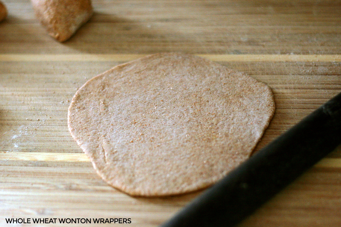 Healthy Whole Wheat Wonton Wrappers