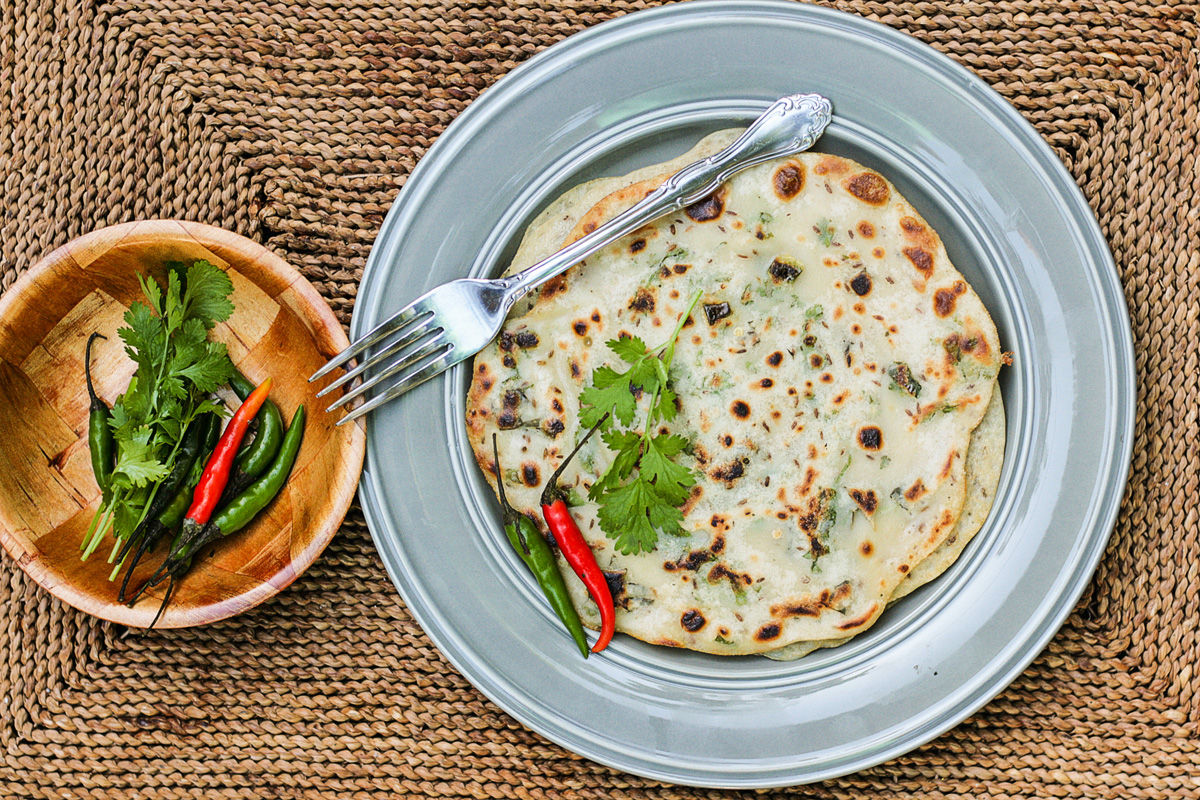 Southeast Asian Crêpes with Cumin Seeds